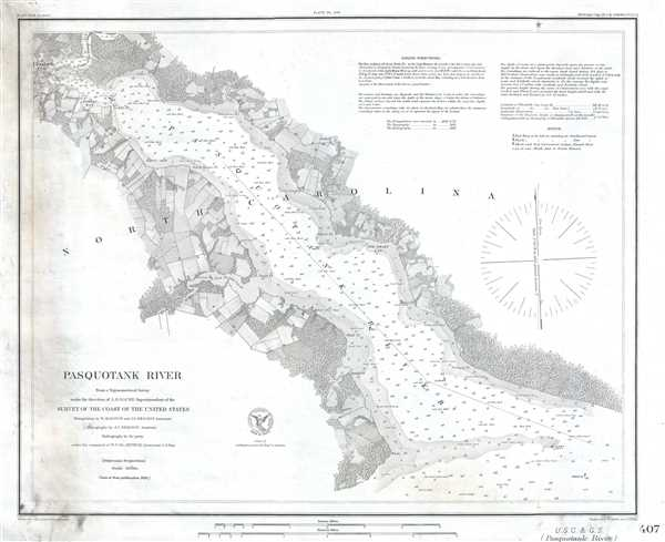 Pasquotank River Geographicus Rare Antique Maps - North-carolina-map-of-us