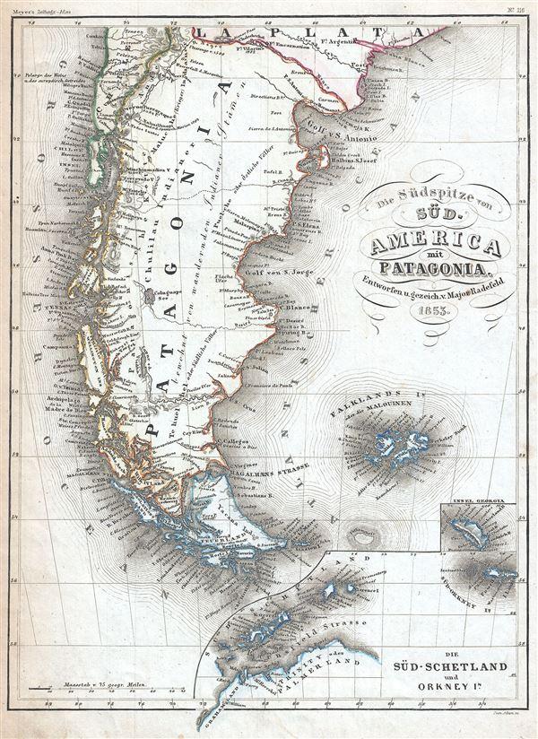 Die Sudspitze von Sud America mit Patagonia.