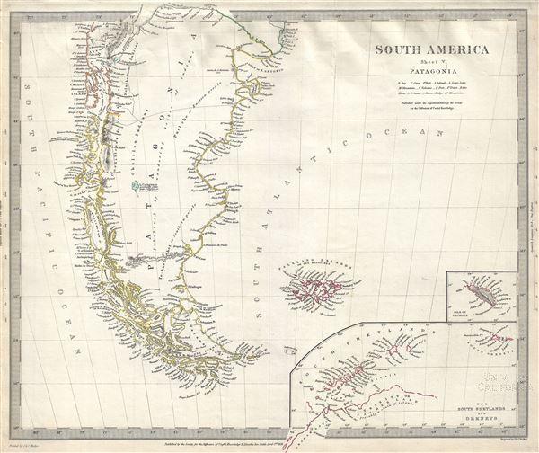 South America Sheet V Patagonia.