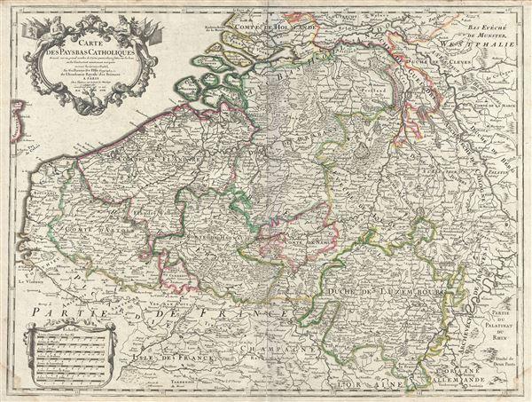 Carte des Pays Bas Catholiques. - Main View
