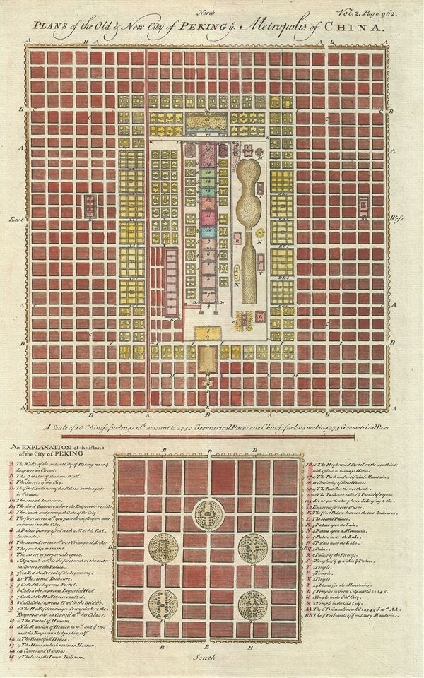 Plans of the Old & New City of Peking Metropolis of China.