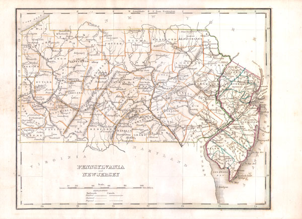 Pennsylvania And New Jersey Geographicus Rare Antique Maps