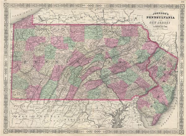 Johnson's Pennsylvania and New Jersey. - Main View