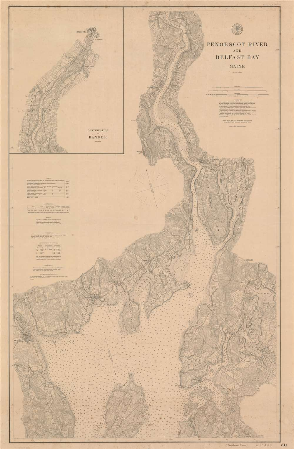 Penobscot River and Belfast Bay Maine.