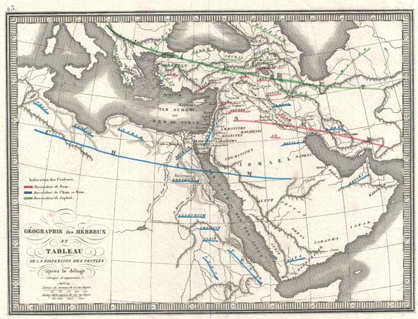 Geographie des Hebreux et Tableau de la Dispersion des Peuples Apres le Deluge