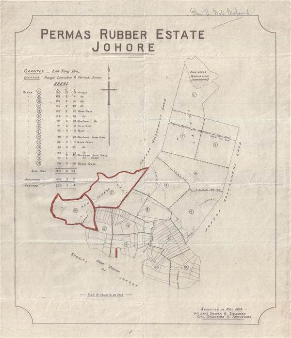 Permas Rubber Estate Johore.