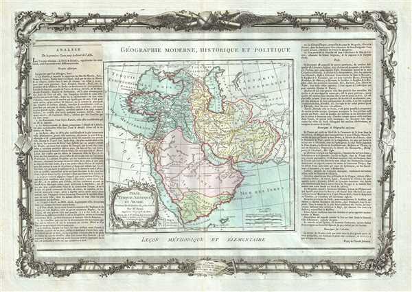 Perse, Turquie Asiatique et Arabie.