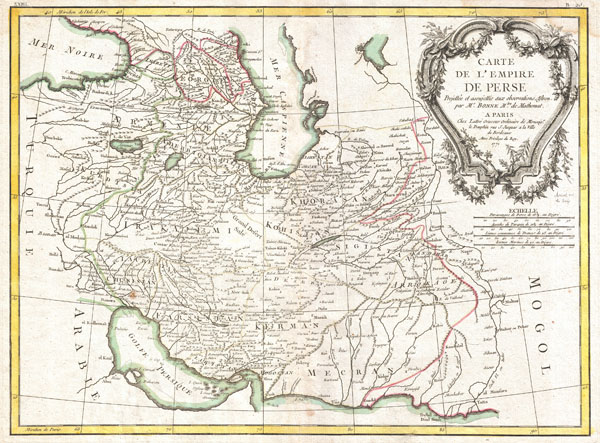 Carte de L'Empire de Perse.