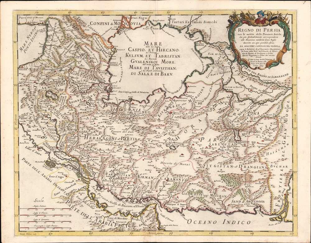 Regno di Persia con le notitie delle Provincie Antiche, che più probabilmente corrispondono alle Divisioni moderne d'esso Regno. - Main View