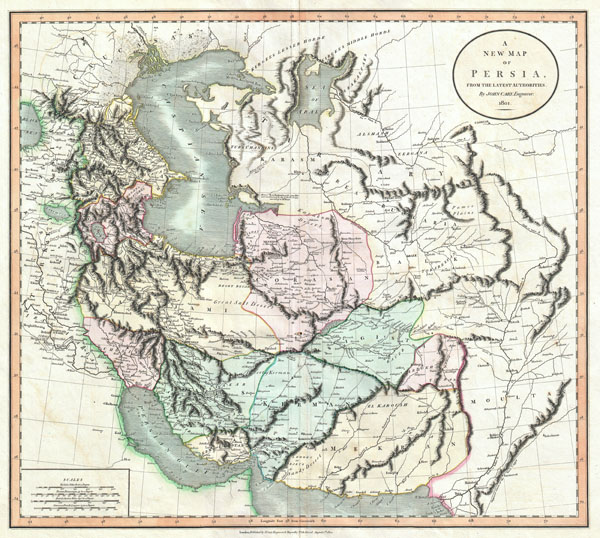 A New Map of Persia, from the Latest Authorities. - Main View