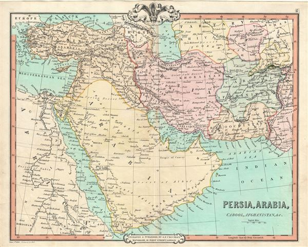Persia, Arabia, Cabool, Afghanistan, etc.