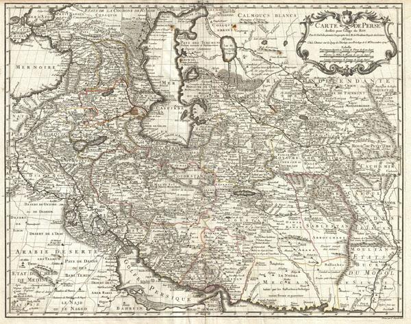 Carte de Perse, dressee pour l'usage du Roy. Par G. Delisle premier Geographe de S.M. de l'Academie Royale des Sciences.