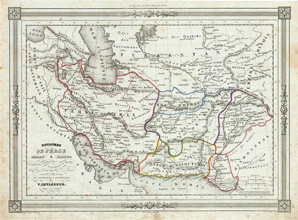Royaumes de Perse Herat & Kaboul Confed.on des Baloutchis Principaute de Sindhy Conf.on des Seikhs ou Roy.me de Lahore et la partie la plus peuplee du Turkestan Independ. - Main View