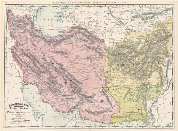 Map of Persia, Afghanistan and Baluchistan.