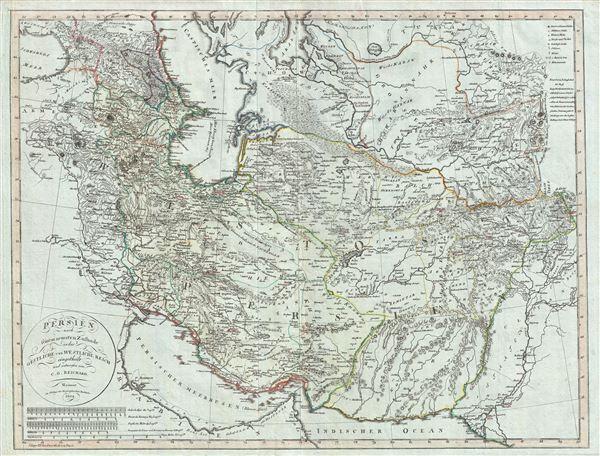 Persien nach seinem neuesten Zustande in das Ostliche und Westliche Reich eingeteilt.