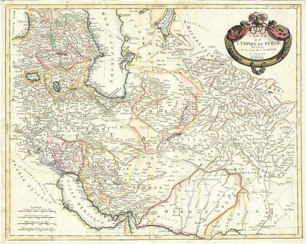 Carte de l'Empire de Perse.