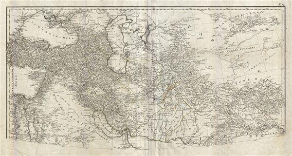 Erster Theil der Karte von Asien welche die Turkei, Arabien, Persien Indien diesseits des Ganges und einen Theil der Tatarei enthalt.