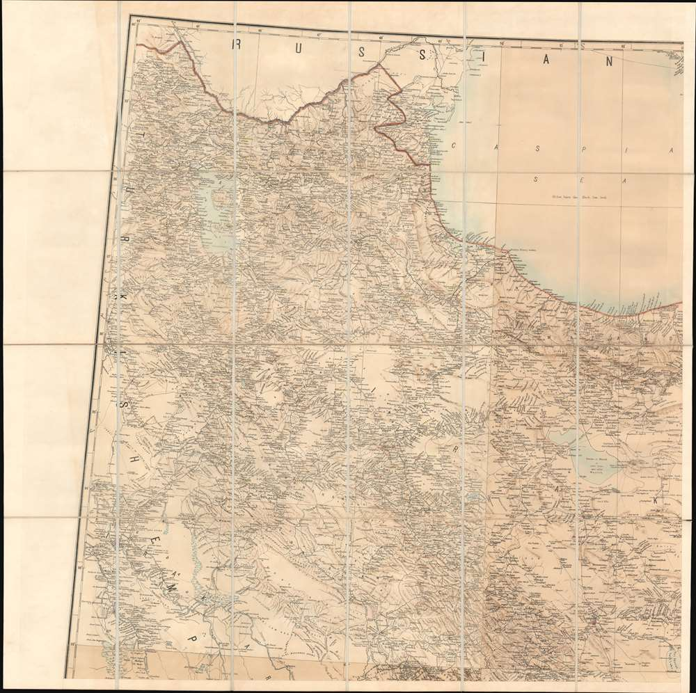 Map of Persia (in Six Sheets) Compiled in the Simla Drawing Office Survey of India. - Alternate View 2
