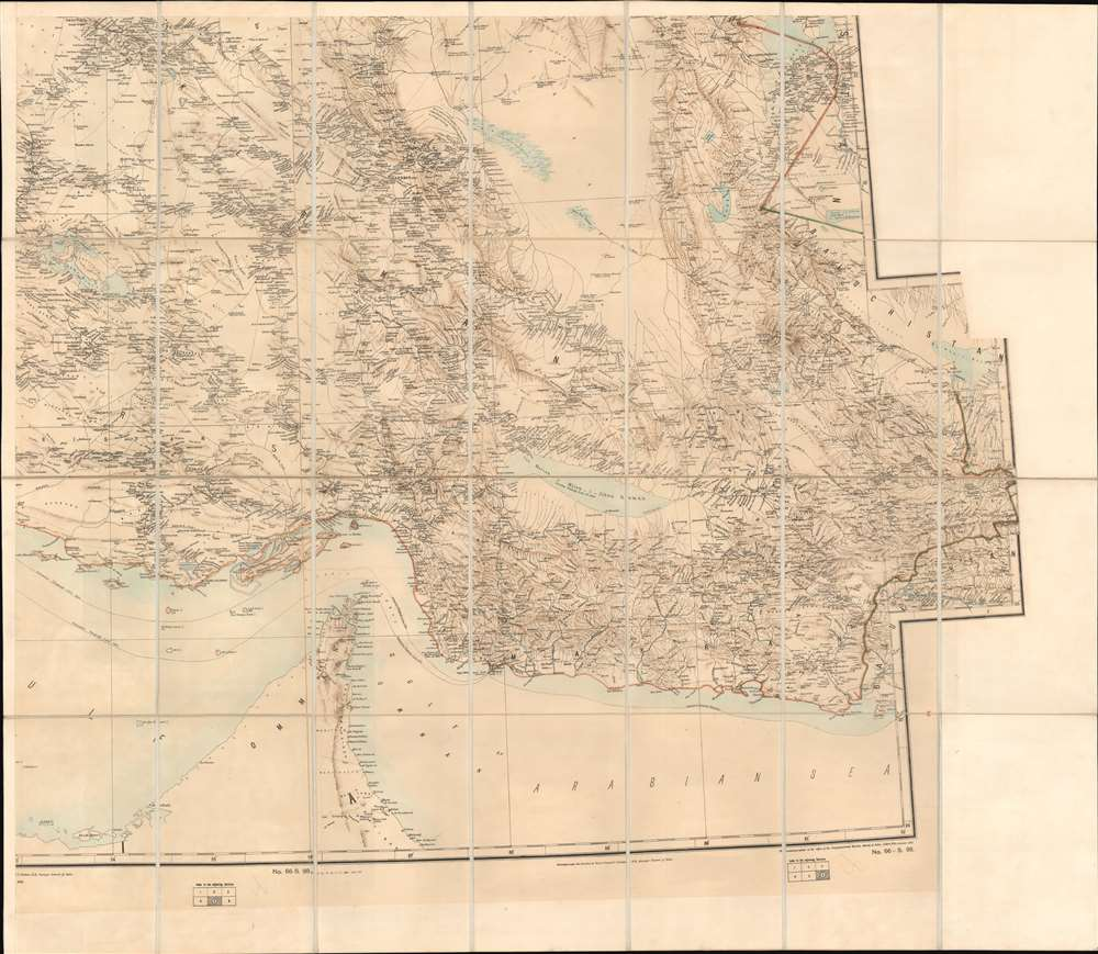 Map of Persia (in Six Sheets) Compiled in the Simla Drawing Office Survey of India. - Alternate View 3