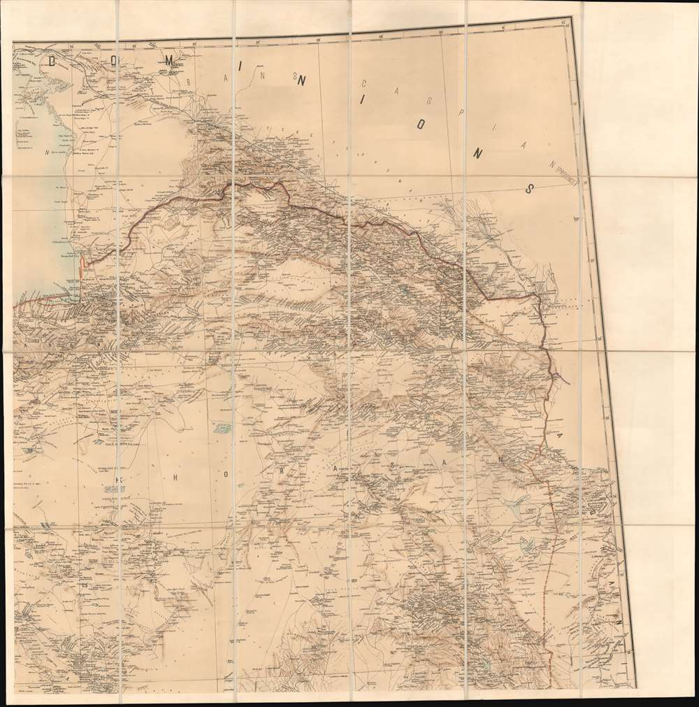 Map of Persia (in Six Sheets) Compiled in the Simla Drawing Office Survey of India. - Alternate View 4