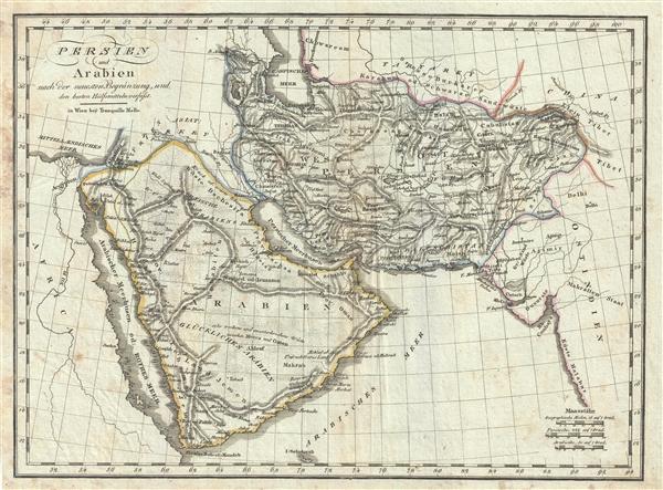 Persien und Arabien nach der neuesten Begränzung, und den besten Hülfsmitteln verfasst.