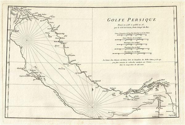Golfe Persique dresse en 1758 et publie en 76, par le Sr. d'Anville, Prem. Geogr. du Roi.