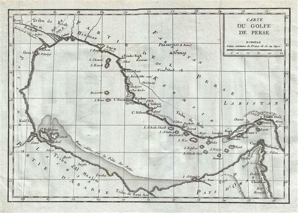 Carte du Golfe de Perse.