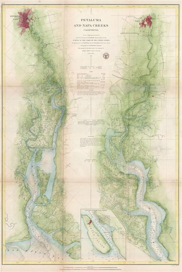 Petaluma and Napa Creeks California. - Main View