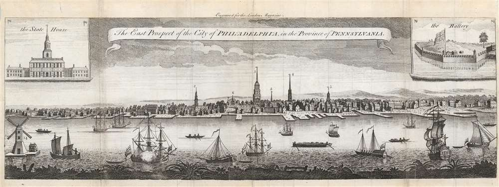 The East Prospect of the City of Philadelphia, in the Province of Pennsylvania. - Main View