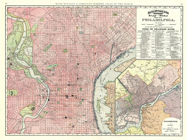 Map of Philadelphia.