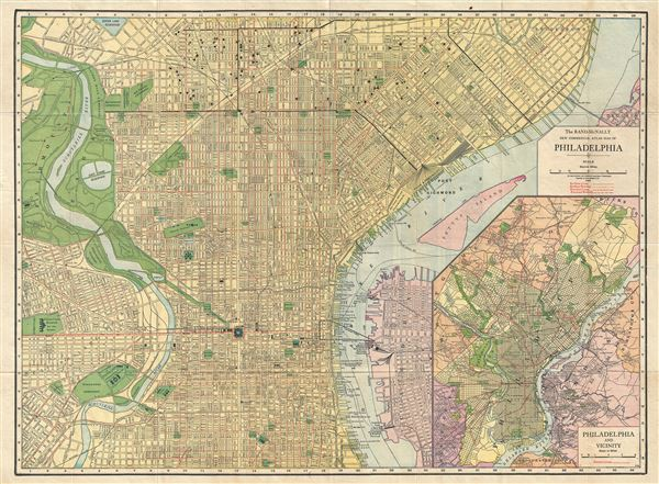 The Rand-McNally New Commercial Atlas Map of Philadelphia. - Main View