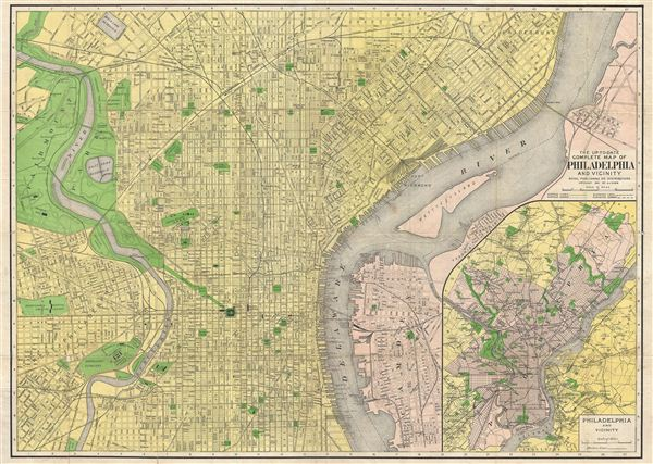 The Up-To-Date Complete Map of Philadelphia and Vicinity.