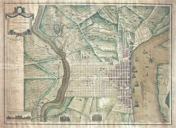 To the Citizens of Philadelphia: This Plan of the City and its Environs is respectfully dedicated by the Editor.
