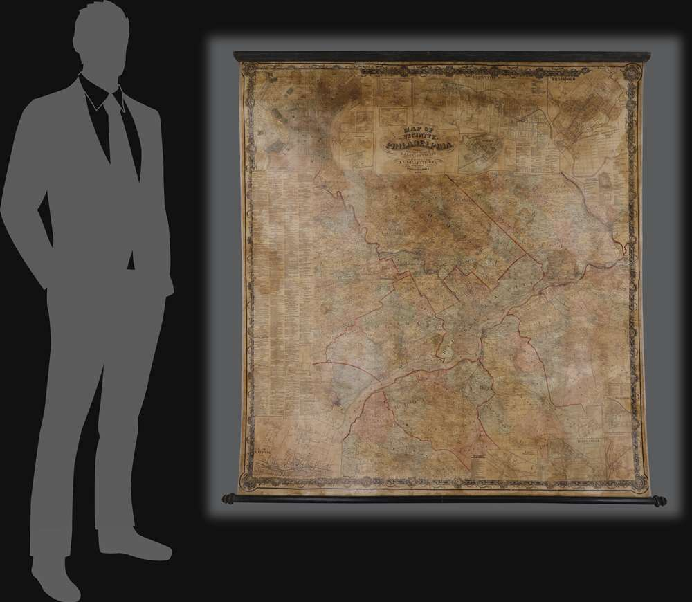Map of the Vicinity of Philadelphia. - Alternate View 1