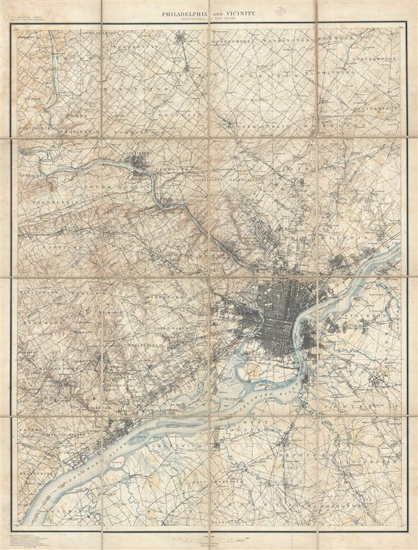 Philadelphia and Vicinity Pennsylvania and New Jersey. - Main View