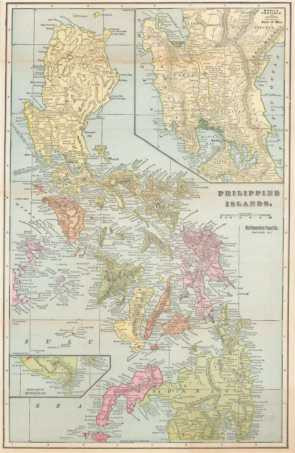 1899 Fort Dearborn Publishing Co. Map of the Philippines