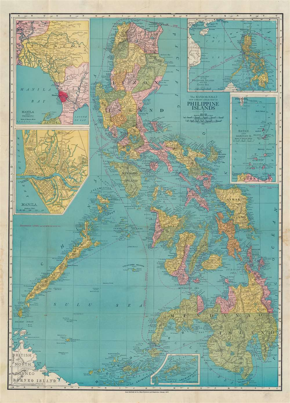 The Rand-McNally New Library Atlas Map of Philippine Islands. - Main View