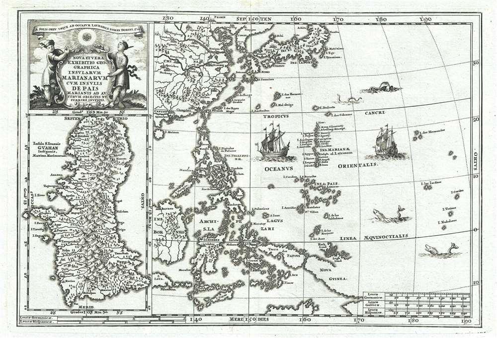 Nova Et Vera Exhibitio Geographica Insularum Marianarum Cum Insulis De Pais Marianis ad Austrum Obiectis Nuperrime Inventis. - Main View