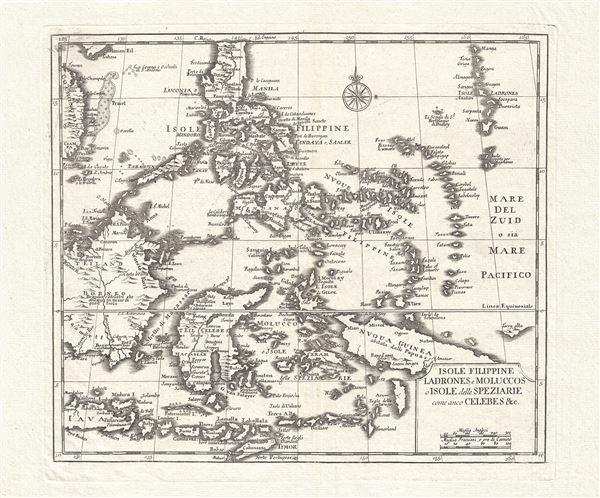 Isole Filippine Ladrones e Moluccos o Isole delle Speziarie comme anco Celebes & c.