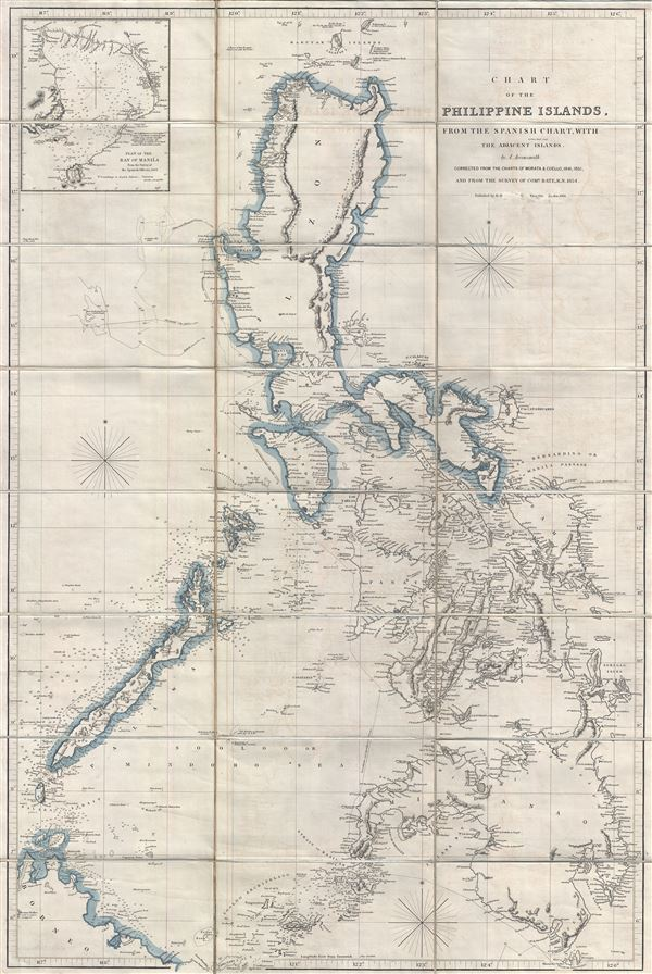 Chart of the Philippine Islands, from the Spanish Chart, witht Adjacent Islands. - Main View