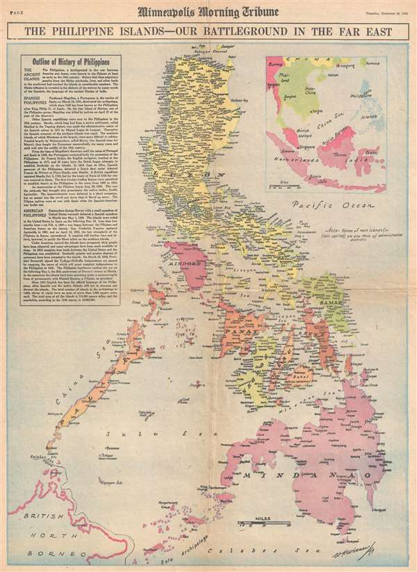 The Philippine Islands - Our Battleground in the Far East.