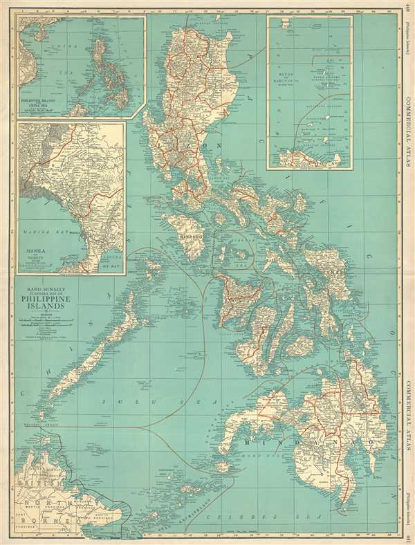 Rand McNally Standard Map of Philippine Islands
