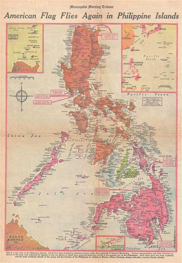 American Flag Flies Again in Philippine Islands. - Main View