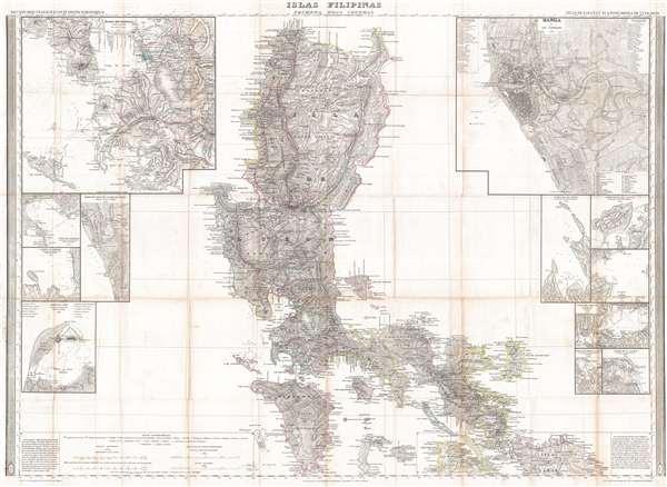 Islas Filipinas Primera Hoja Central.