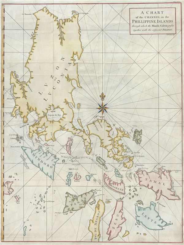 A Chart of the Channel in the Phillippine Islands through which the Manila Galeon passes together with the adjacent Islands.