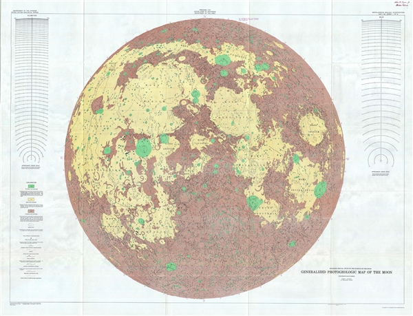 Engineer Special Study of the Surface of the Moon, Generalized Photogeologic Map of the Moon. - Main View
