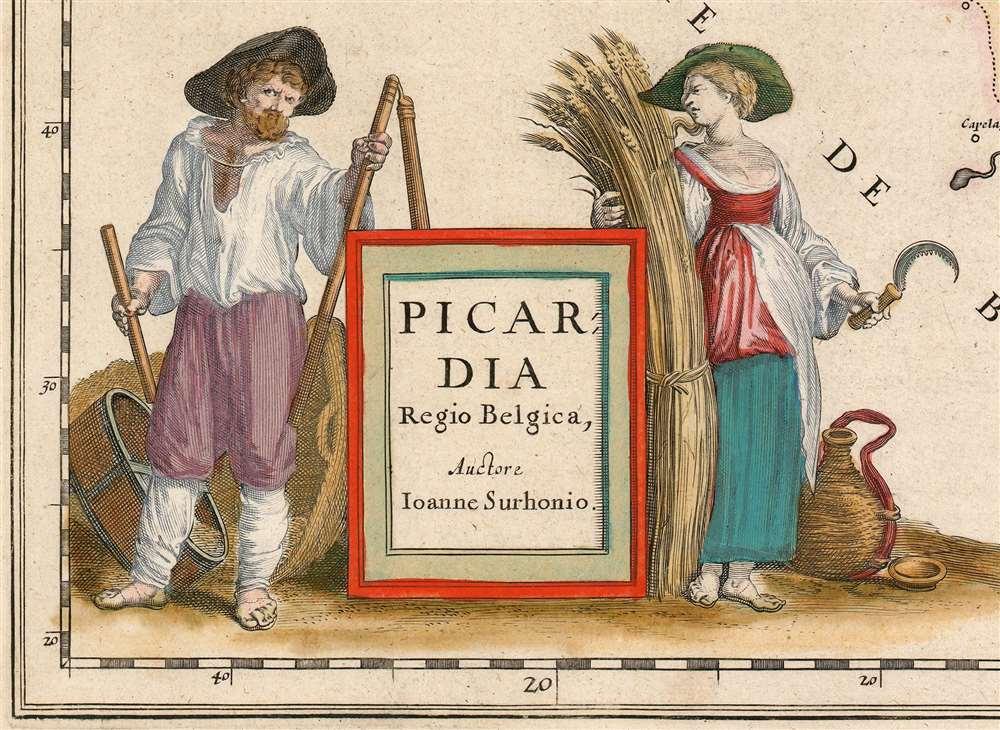 Picardia Regio Belgica, Auctore Ioanne Surhonio. - Alternate View 1