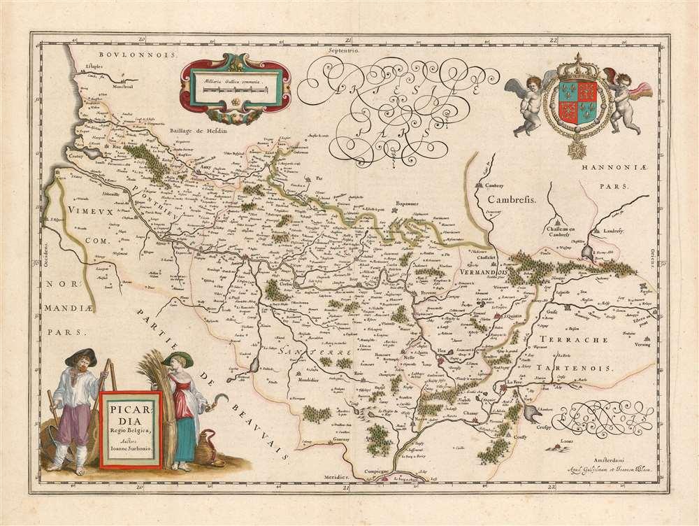 Picardia Regio Belgica, Auctore Ioanne Surhonio. - Main View