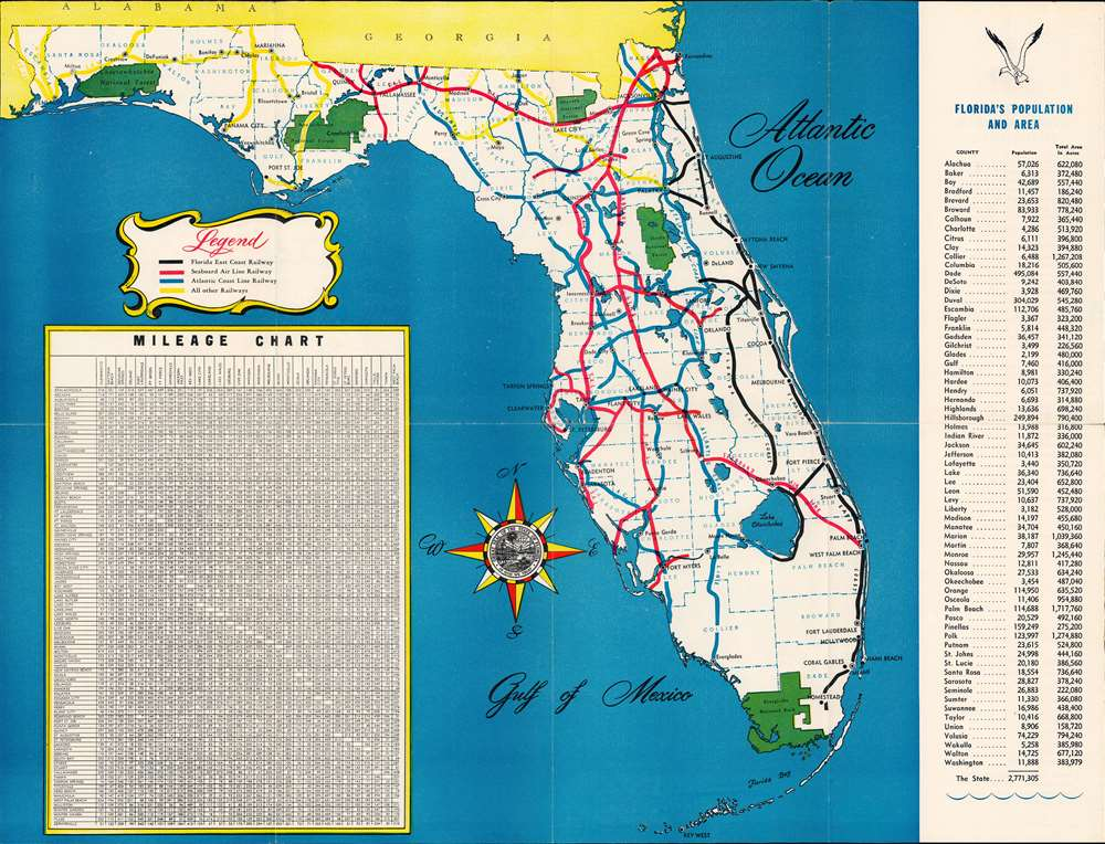 A Pictorial Map of Florida. - Alternate View 1
