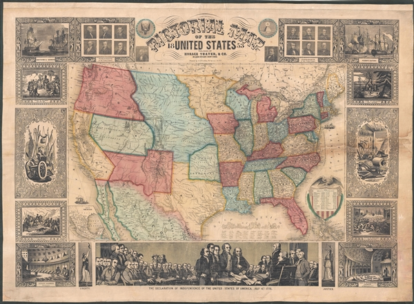 Pictorial Map of the United States Geographicus Rare Antique Maps